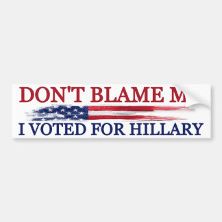 Adesivo Para Carro Eu votei para Hillary
