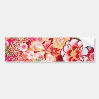 Adesivo Para Carro Explosão floral vermelha de Falln