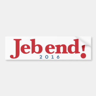 Adesivo Para Carro Extremidade de Jeb! 2016