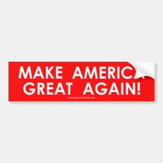 Adesivo Para Carro Faça o trunfo do excelente de América outra vez -