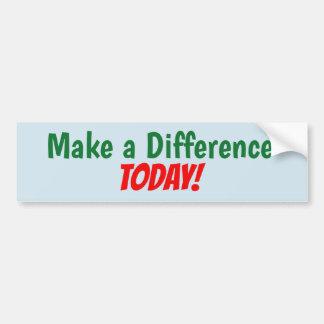 Adesivo Para Carro Faça uma diferença hoje! etiqueta