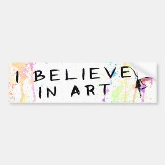 Adesivo Para Carro Fada da arte: Eu acredito na aguarela da arte
