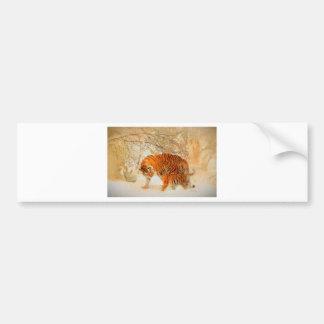 Adesivo Para Carro Família em um blizzard - PaintingZ do tigre