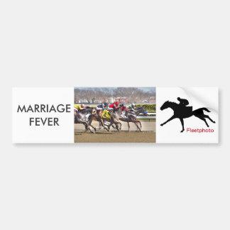 Adesivo Para Carro Febre do casamento & principiante velho
