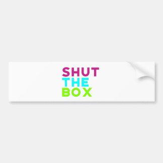 Adesivo Para Carro Feche o logotipo da caixa