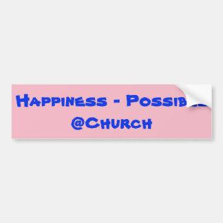 Adesivo Para Carro Felicidade - etiqueta possível do @Church