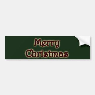 Adesivo Para Carro Feliz Natal de incandescência