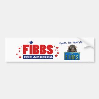 Adesivo Para Carro FIBBS PARA AMÉRICA e rosquinhas para Eberyone!