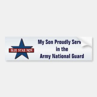 Adesivo Para Carro Filho da mamã da estrela   azul na guarda nacional
