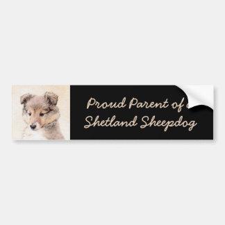 Adesivo Para Carro Filhote de cachorro do Sheepdog de Shetland