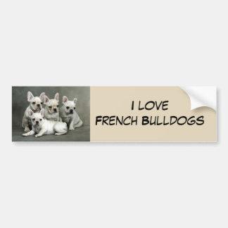 Adesivo Para Carro Filhotes de cachorro bonitos do buldogue francês