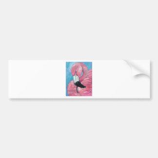 Adesivo Para Carro Flamingo cor-de-rosa