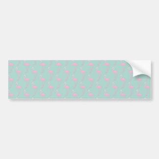 Adesivo Para Carro Flamingo cor-de-rosa no teste padrão sem emenda da