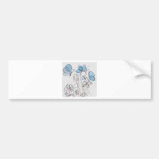 Adesivo Para Carro Flor azul