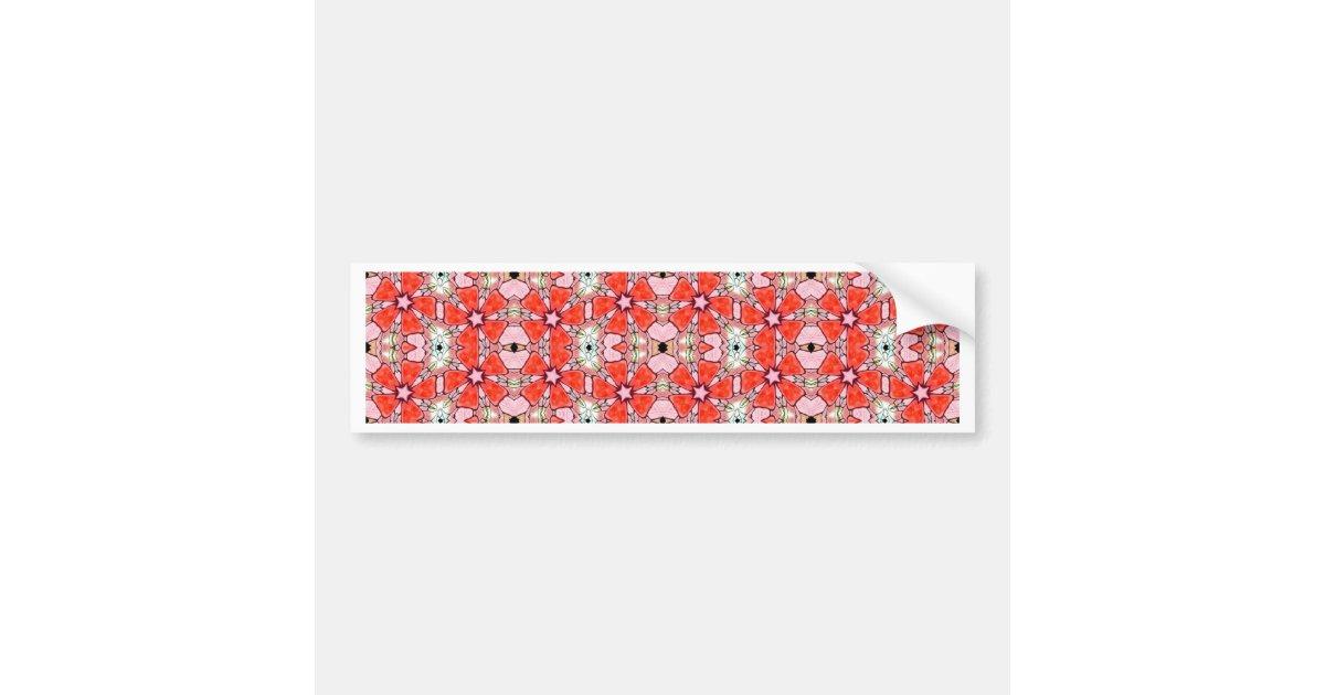 Armario Farmacia Antiguo ~ Adesivo Para Carro flor vermelha do vitral Zazzle co