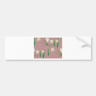 Adesivo Para Carro Flores brancas do açafrão