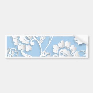 Adesivo Para Carro Flores brancas em azuis bebés