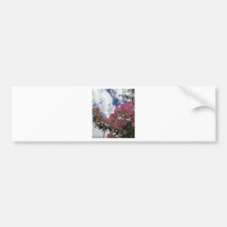 Adesivo Para Carro flores cor-de-rosa contra um céu azul