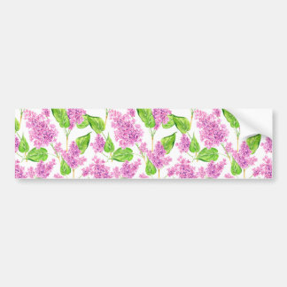 Adesivo Para Carro Flores cor-de-rosa do lilac da aguarela