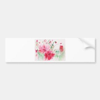 Adesivo Para Carro Flores cor-de-rosa maravilhosas