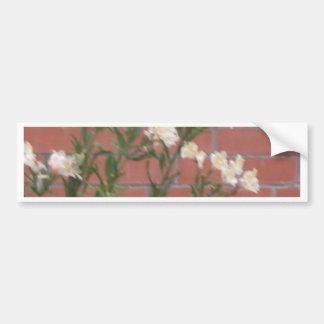 Adesivo Para Carro Flores no tijolo