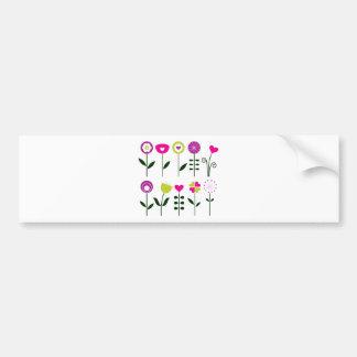 Adesivo Para Carro Flores populares/preto cor-de-rosa mágico no