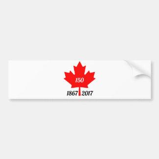 Adesivo Para Carro Folha de bordo de Canadá 150 em 2017