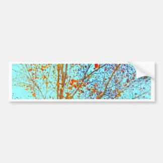 Adesivo Para Carro Folhas da laranja do outono e céu azul