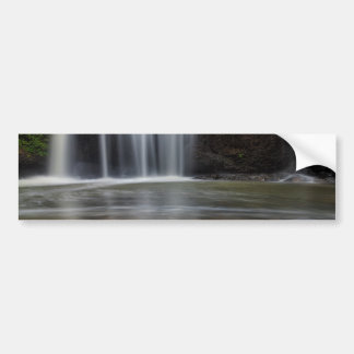 Adesivo Para Carro Folhas de bordo da queda na cachoeira escondida