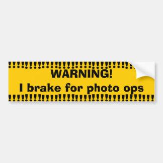 Adesivo Para Carro Foto de advertência amarela Ops