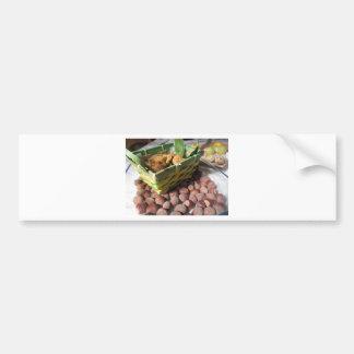 Adesivo Para Carro Frutas do outono com avelã e os figos secados