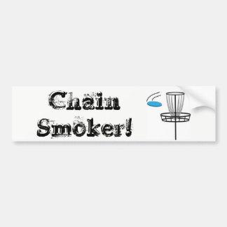 Adesivo Para Carro Fumador Chain! Etiqueta do DG