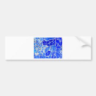 Adesivo Para Carro Fundo azul abstrato