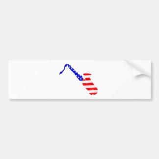 Adesivo Para Carro Fundo da bandeira do saxofone