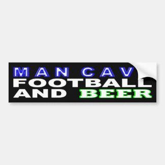 Adesivo Para Carro Futebol e cerveja da caverna do homem