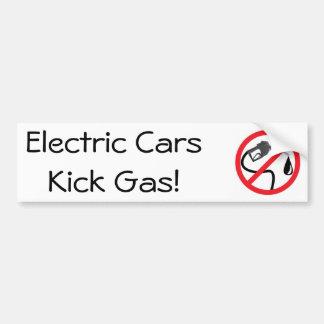Adesivo Para Carro Gás do pontapé dos carros elétricos