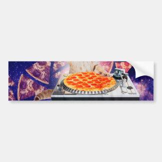 Adesivo Para Carro gato do DJ - gato DJ - gato do espaço - pizza do