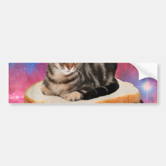 Adesivo Para Carro gato do pão - gato do espaço - gatos no espaço