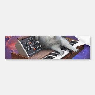 Adesivo Para Carro gato do teclado - memes do gato - gato louco