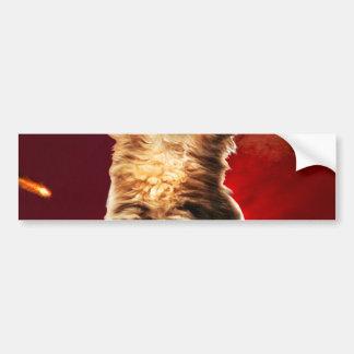 Adesivo Para Carro gato do vulcão, gato vulcan,