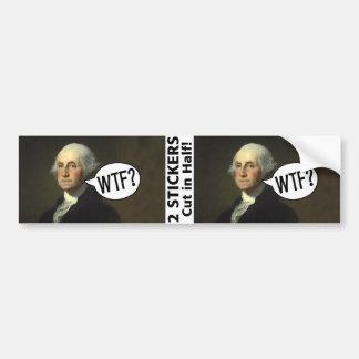 Adesivo Para Carro George Washington WTF - 2 etiquetas