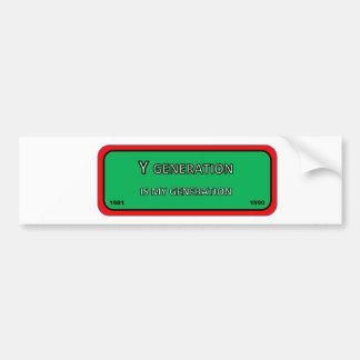 Adesivo Para Carro Geração Y da etiqueta do pára-choque/janela