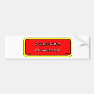 Adesivo Para Carro Geração Z da etiqueta do pára-choque/janela