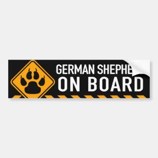 Adesivo Para Carro German shepherd a bordo