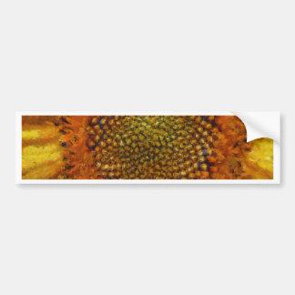 Adesivo Para Carro Girassol e sementes no estilo de Van Gogh