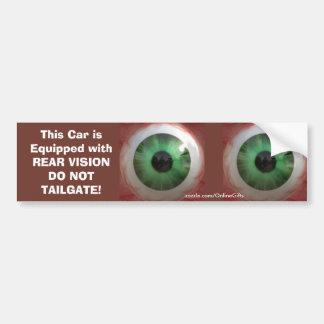 Adesivo Para Carro Globo ocular verde assustador do divertimento -
