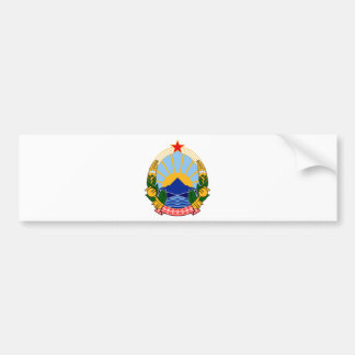 Adesivo Para Carro Grb de Makedonija do SÉNIOR
