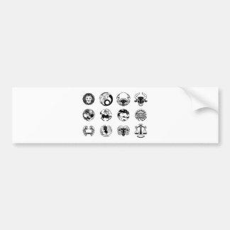 Adesivo Para Carro Grupo do ícone dos sinais da estrela do horóscopo