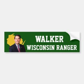 Adesivo Para Carro Guarda florestal de Wisconsin do caminhante