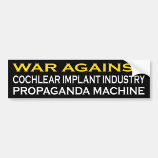 Adesivo Para Carro Guerra contra a máquina de Prograganda da